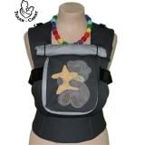Эрго-рюкзак Тедди слинг ЛЮКС Мишка со звездой темно-серый