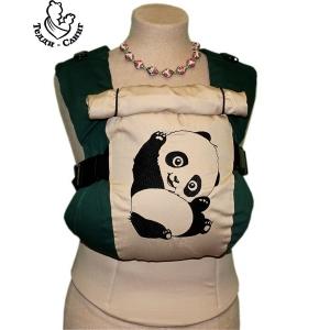 Эрго-рюкзак Тедди слинг ЛЮКС Панда темно-зеленый