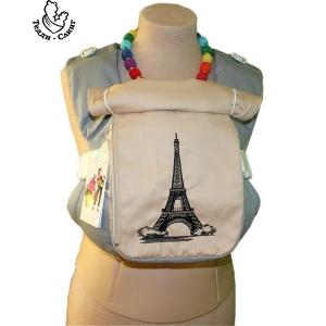 Эрго-рюкзак Тедди слинг ЛЮКС Париж серо-бежевый