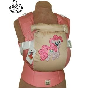 Эрго-рюкзак Тедди слинг ЛЮКС Пони розовый