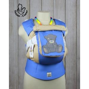 Эрго-рюкзак Тедди слинг ЛЮКС Просто мишка голубой