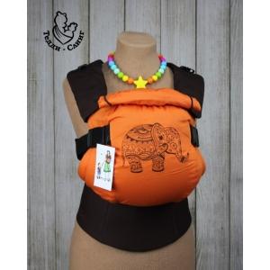 Эрго-рюкзак Тедди слинг ЛЮКС Слоненок коричнево-оранжевый