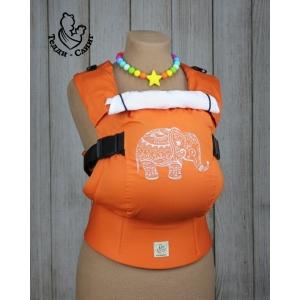 Эрго-рюкзак Тедди слинг ЛЮКС Слоненок оранжевый