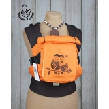 Эрго-рюкзак Тедди слинг ЛЮКС Совушки гжель коричнево-оранжевый