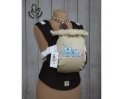 Эрго-рюкзак Тедди слинг ЛЮКС Совушки коричневые