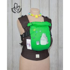 Эрго-рюкзак Тедди слинг ЛЮКС Тоторо коричнево-зеленый