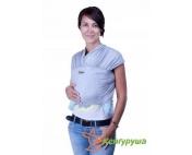 Трикотажный слинг-шарф Кенгуруша Classic серый меланж