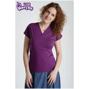 """Блуза для кормящих """"Сакура"""" фиолетовая"""