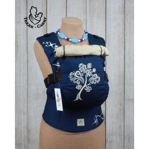 Эрго-рюкзак Тедди слинг ЛЮКС Дерево жизни темно-синий
