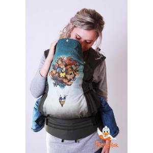 Эргорюкзак СТАНДАРТ ЭКСКЛЮЗИВ - Воздушный шар с бабочками ЛП Хаки ПД Бежевый лен