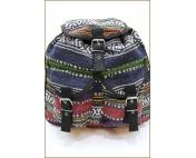 Сумка-рюкзак бордо + темно-синий