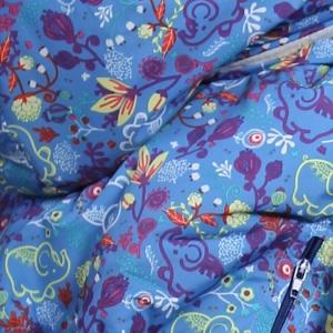 Слингонакидка плащевка утепленная - Слоники - Голубика