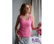 Майка для кормящих «Легкость бытия» (в рубчик) розовая