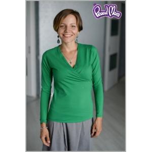 """Блуза для кормящих """"Сюрприз"""" зеленая"""