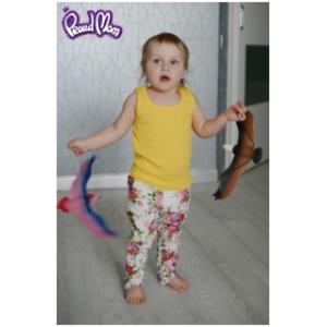 Детская маечка «Легкость бытия» желтая