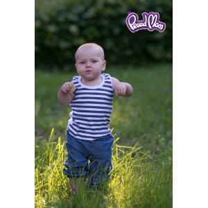 Детская маечка «Легкость бытия» серая полоска