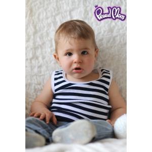 Детская маечка «Легкость бытия» синяя полоска