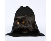 Сумка-рюкзак с принтом Ночной кот